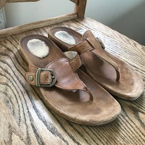 UGG sandals, lightly used Sz 9